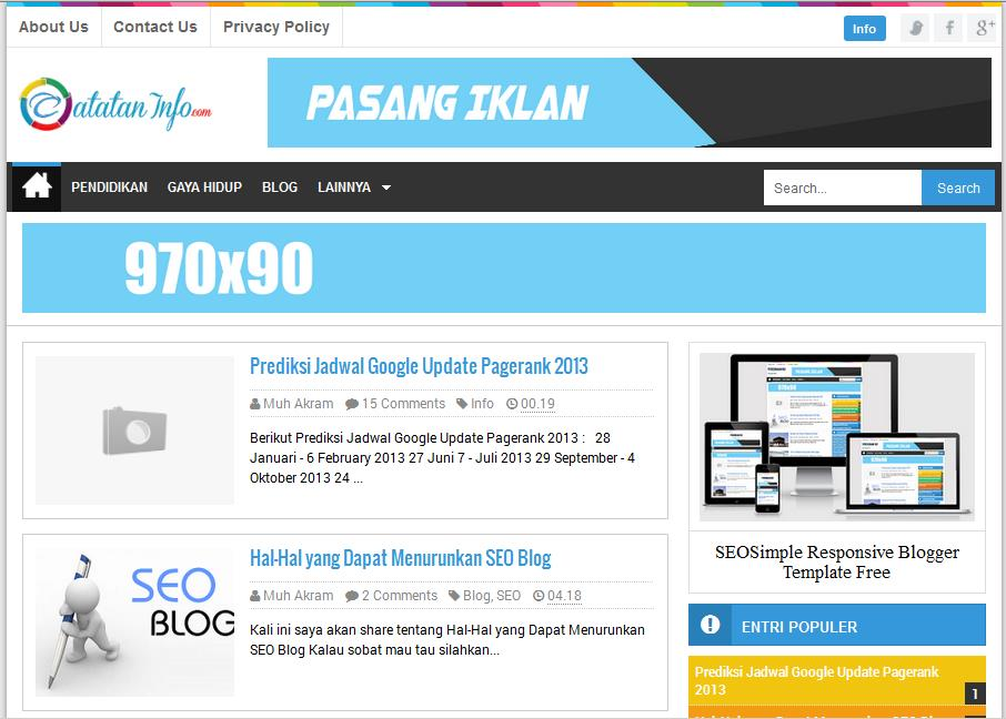 SEOSimple Responsive Blogger Template